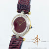 Cartier must de Cartier Argent Diamond Ruby 925 Quartz Vintage Gold Micron