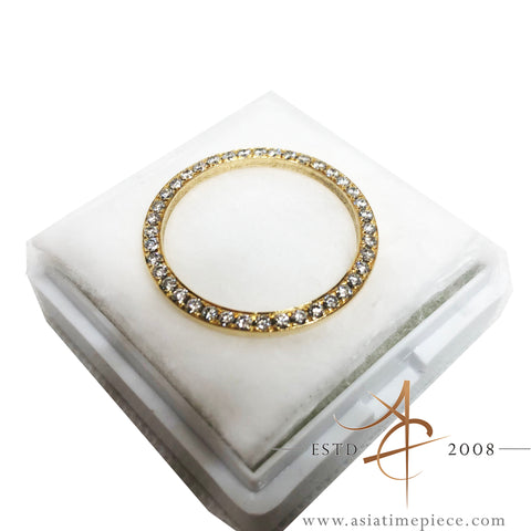 Custom Solid Gold Diamond Bezel for Rolex Ladies Datejust