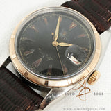 Rolex Oyster Perpetual Ref 6105 Bubble Back Rose Gold Bezel Vintage Watch (Year 1961)