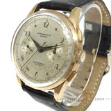 Chronograph Suisse 18K Rose Gold Winding Vintage Watch