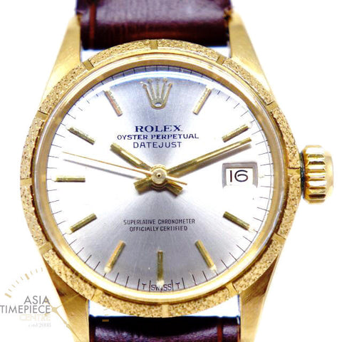 Rolex Vintage DATEJUST Lady 6700 18K Solid Gold Automatic