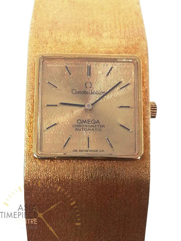 Omega Constellation Rare Vintage Square Dial 18k Solid Gold Automatic