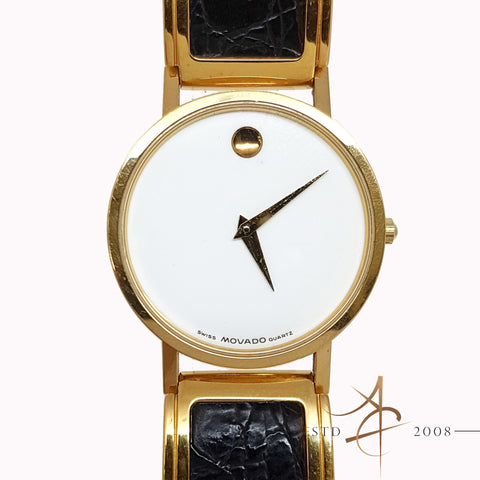 Movado Museum 87-45-882 30mm White Dial Swiss Quartz Watch