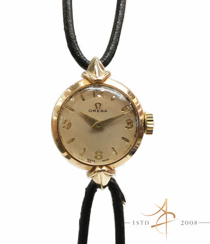 Omega Ladies 9K Gold Vintage Watch