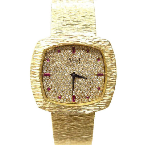 Piaget Automatic 18K Gold Diamond Watch Ref 12401A6