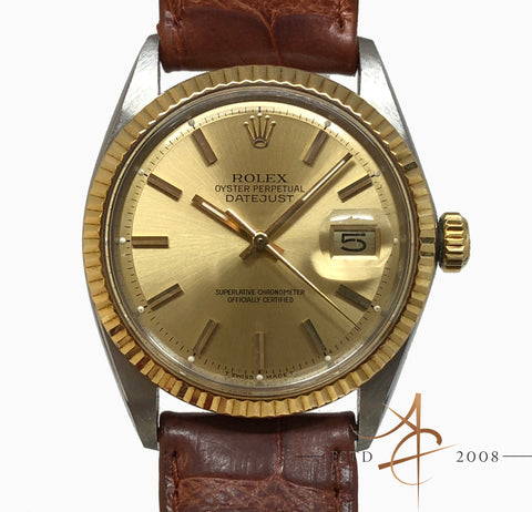 (SOLD) Rolex Oyster Perpetual Datejust Ref 1601 Vintage Watch (1970)