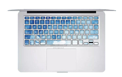 Keyboard Sticker - Motley Blue