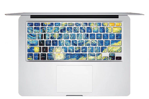 Keyboard Sticker - Starry Starry Night