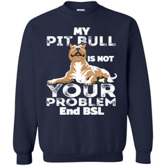 Apparel - My Pit Bull Is Not Your Problem - Hoodie