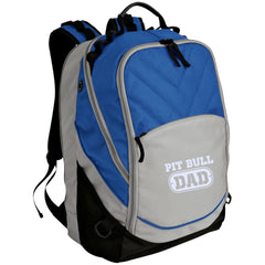 Apparel - Pit Bull Dad Embroidered Laptop Computer Backpack