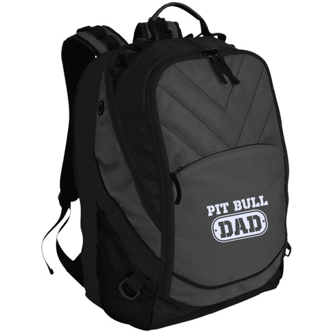 Pit Bull Dad Embroidered Laptop Computer Backpack