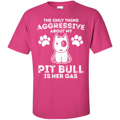 Apparel - The Only Thing Aggressive About My Pit Bull Is Her Gas - Shirt