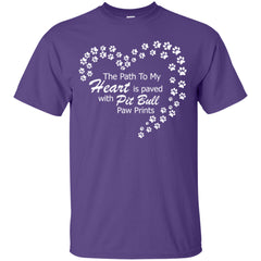 Apparel - The Path To My Heart Is Paved With Pit Bull Paw Prints - Shirt