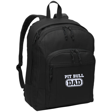 Pit Bull Dad - Embroidered Backpack