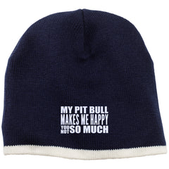 Hats - My Pit Bull Makes Me Happy - Beanie