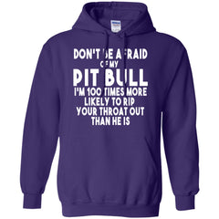 Hoodies - Don't Be Afraid Of My Pit Bull - Male - Hoodie