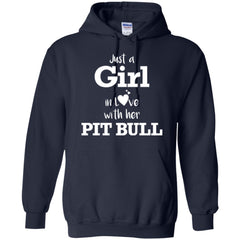 Hoodies - Just A Girl In Love With Her Pit Bull - Hoodie