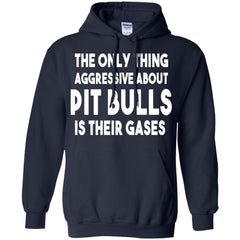 Hoodies - The Only Thing Aggressive About Pit Bulls Is Their Gases - Hoodie