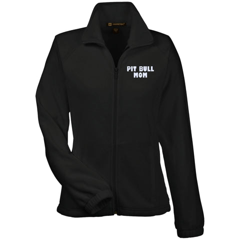 Pit Bull Mom - Women's Embroidered Fleece Jacket