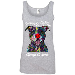 Tank Top - Never A Fighter - Pit Bull Tank Top