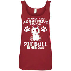 Tank Top - The Only Thing Aggressive About My Pit Bull Is Her Gas - Tank Top