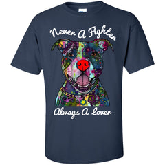 Tees - Never A Fighter - Pit Bull Shirt