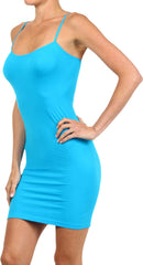 Seamless Solid Dress Spaghetti Straps - PacificPlex