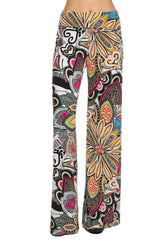 Retro 60's Print High Waist Palazzo Pants - PacificPlex