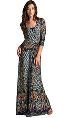 Moroccan Jersey Wrap Maxi Dress
