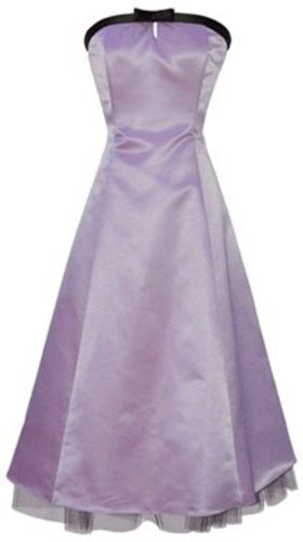 50's Strapless Satin Formal Bridesmaid Gown Holiday Prom Dress