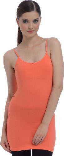 cf1f2e313be ... Extra Long Shelf Bra Cotton Cami Tank Top - PacificPlex ...