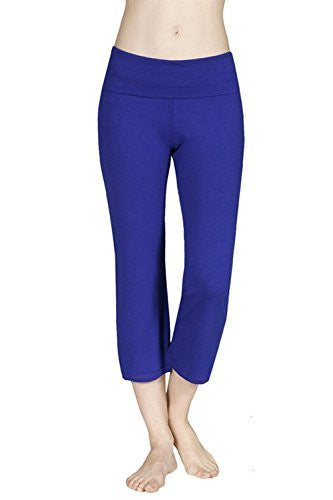 Capri Yoga Pants Fold Over Waist
