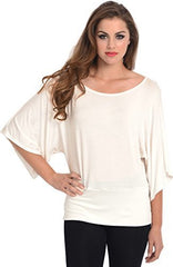 Kimono Off-Shoulder Tee T-shirt Top - PacificPlex - 48