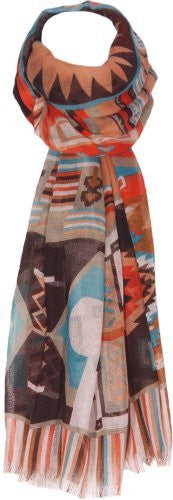 Ethnic Print Woven Scarf