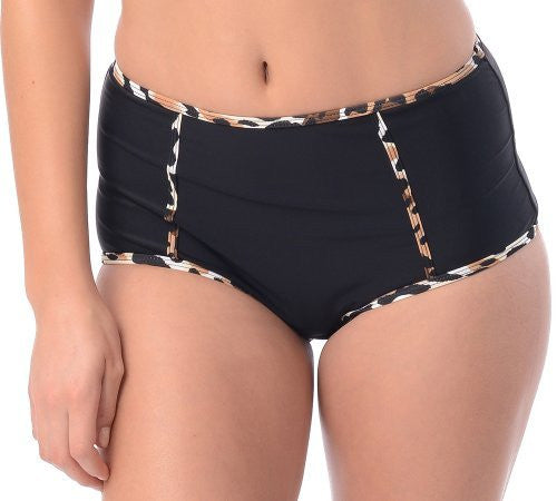 Leopard Highwaisted Swimsuit Brief