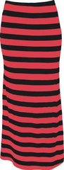 Striped Maxi Tube Skirt