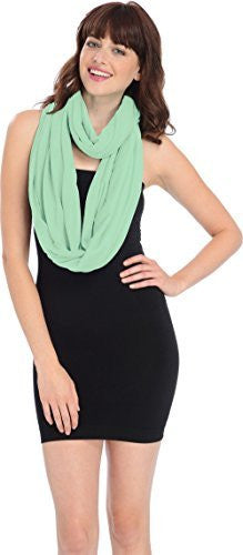 Solid Color Infinity Loop Circle Scarf