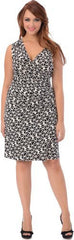 Geo Print Faux Wrap Dress - PacificPlex