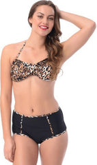 Animal Print Highwaisted 2pc Swimsuit - PacificPlex