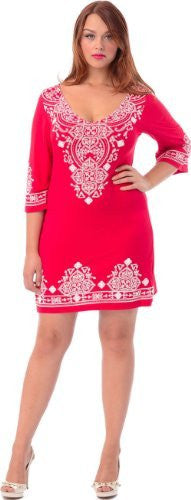 Tribal Bell-Sleeve Dress