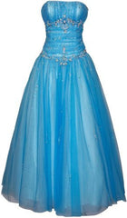 Beaded Mesh Fairy Prom Dress Formal Ball Gown - PacificPlex