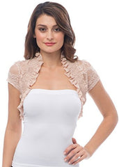 Sheer Lace Bolero Jacket Top