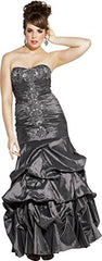 Beaded Taffeta Long Evening Gown Prom Homecoming Dress - PacificPlex