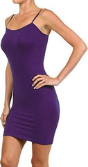 Seamless Solid Dress Spaghetti Straps - PacificPlex - 40