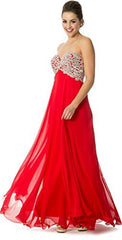 Applique Lace Crystals Long Prom Bridesmaid Dress - PacificPlex