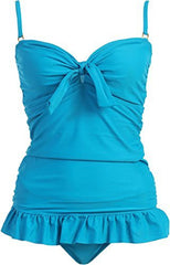 Solid Ruffle Tankini Swimsuit - PacificPlex