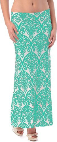 Ornate Filigree Print Maxi Skirt