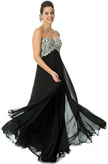 Applique Lace Crystals Long Prom Bridesmaid Dress - PacificPlex - 11