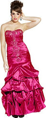 Beaded Taffeta Long Evening Gown Prom Homecoming Dress