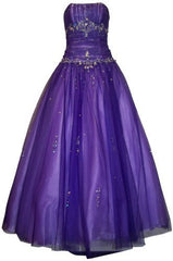 Beaded Mesh Fairy Prom Dress Formal Ball Gown